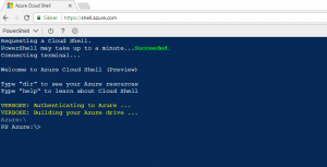 Azure cloud shell start