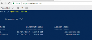 Azure Cloud Shell cloud drive