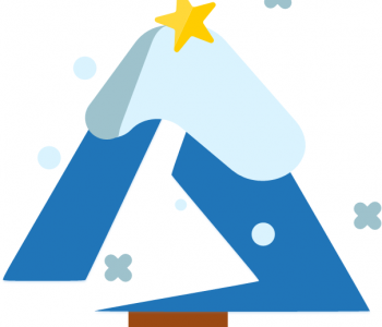 Azure logo as christmas tree