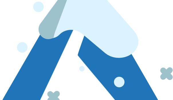 Azure logo as christmas tree
