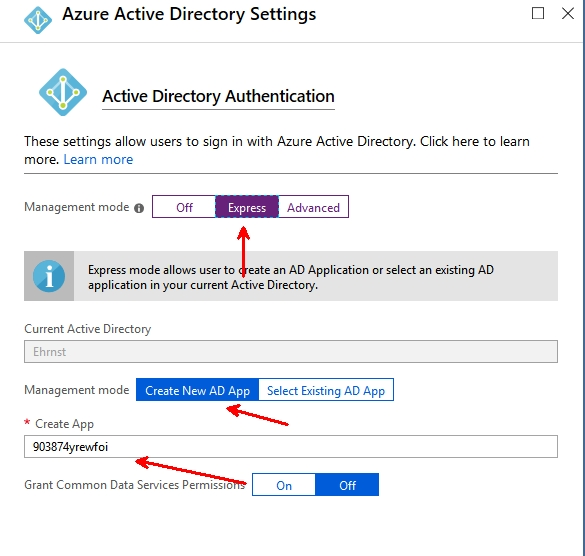 Enable azure ad authentication in azure function