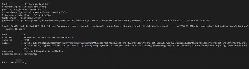 Azure Monitor Rest API
